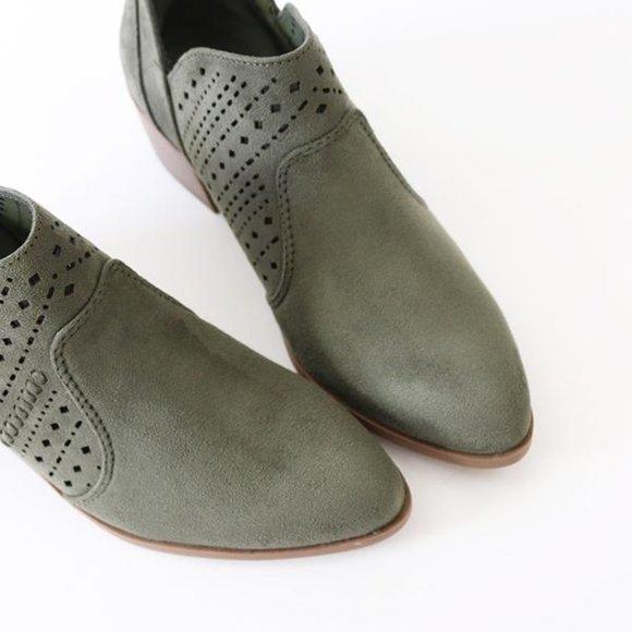 Cityclassified Shoes - City Classified Laser Cut Almond Toe Booties